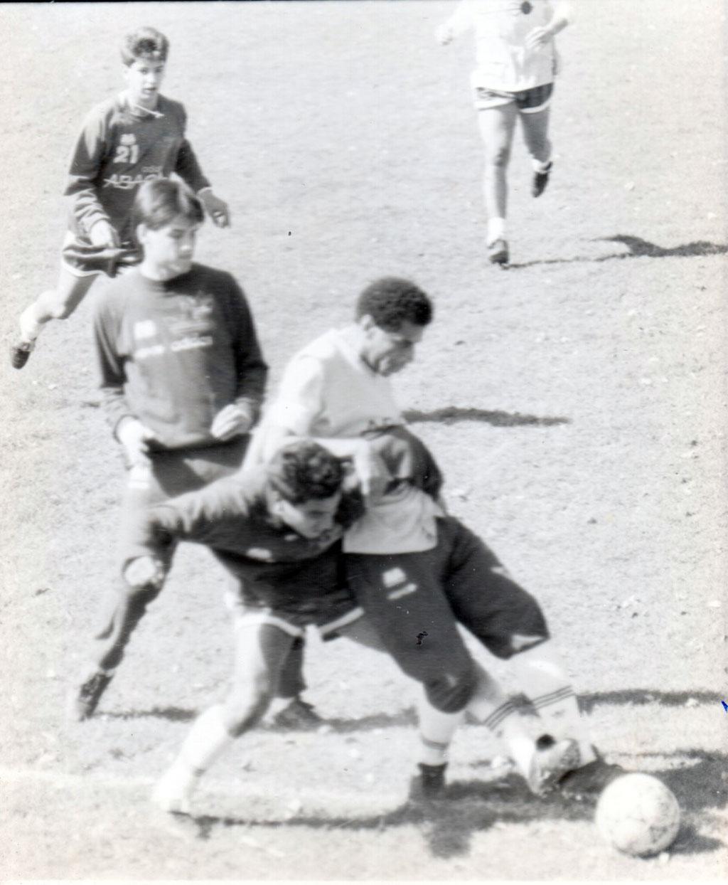 """Mario de Souza Mota """"Bahía"""" durante un entrenamiento"""